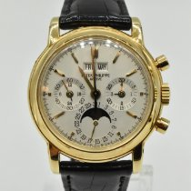 Patek Philippe Perpetual Calendar Chronograph Yellow gold 36mm Silver No numerals United States of America, Texas, Houston