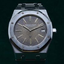Audemars Piguet Royal Oak Jumbo Stål 41mm Brun Ingen tall