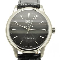 Edox Les Vauberts Steel 37mm Black