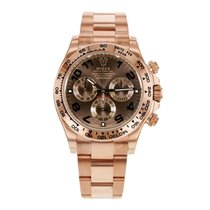 Rolex Daytona 18K Everose Gold Chocolate Watch 116505