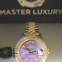Rolex Lady-Datejust Acero y oro 28mm Violeta Sin cifras