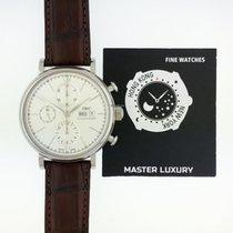 IWC IW391007, Portofino Chronograph, Silver Dial, Steel&Leather