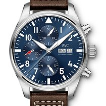 IWC Pilot Chronograph Steel 43mm Blue Arabic numerals United Kingdom, London
