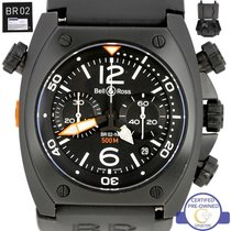 Bell & Ross BR 02-94 Marine Chronograph Black Carbon Stainless...