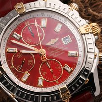 Breitling Crosswind Racing pre-owned 43mm Red Chronograph Date Leather