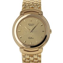 Rolex Cellini pre-owned 37mm Champagne Yellow gold