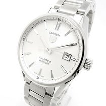 TAG Heuer Carrera Calibre 5 Stål 38.7mm Hvid