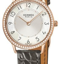 Hermès Slim d'Hermès Rose gold 32mm Mother of pearl United States of America, New York, Airmont