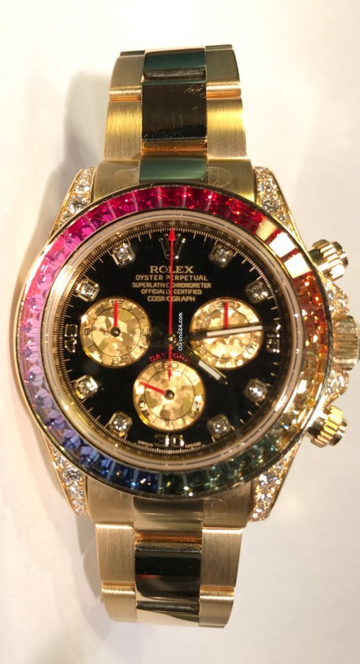Hublot Watch Price >> Rolex Daytona Rainbow Ref:116598RBOW for Price on request ...
