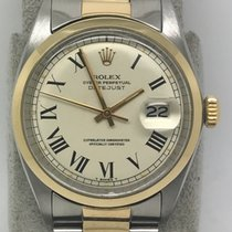 Rolex Datejust 1600 Gold/Steel 36MM Smooth Bezel With Roman Dial