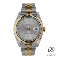 Rolex Datejust Gold/Steel 41mm Silver No numerals United States of America, New York, New York