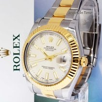 Rolex Datejust II 18k Gold & Steel Ivory Dial Watch Box/Papers...