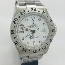 Rolex Explorer II Date White 16570t 40mm Steel Mens Watch