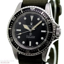 Rolex Vintage Submariner Military Ref-5513 Stainless Steel...