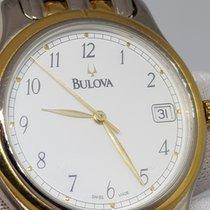 Bulova Bulova Bag 134000 35.3mm Quartz Steel/Gold Dial White Date Very good Steel 35.3mm Quartz
