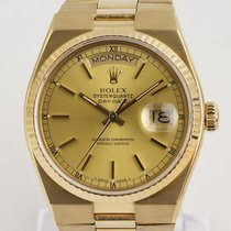Rolex Day-Date Oysterquartz Yellow gold 36mm Champagne No numerals United Kingdom, London