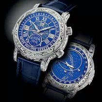 Patek Philippe Sky Moon Tourbillon Oro blanco 44mm Azul