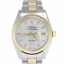 Rolex Air King Date Złoto/Stal 34mm Srebrny