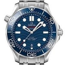 Omega Steel Automatic Blue 42mm new Seamaster Diver 300 M