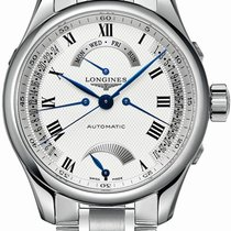 Longines Steel Automatic Silver Roman numerals 41mm new Master Collection