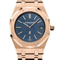 Audemars Piguet Royal Oak Jumbo Roségold 39mm Blau Keine Ziffern