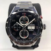 TAG Heuer Carrera Calibre 16 Steel 43mm Black Arabic numerals