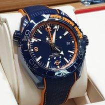 Omega Keramiek Automatisch Blauw Arabisch 45.5mm nieuw Seamaster Planet Ocean