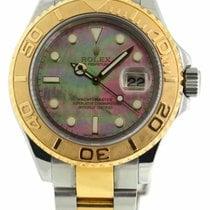 Rolex 16623 Yacht Master 40m Watch Rolex Dark Mother Of Pearl...