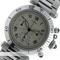 Cartier Pasha Chronograph 38 mm Stahl Quarz