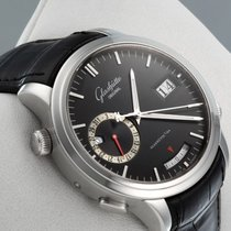 Glashütte Original White gold Automatic Black No numerals 42mm new Senator Diary