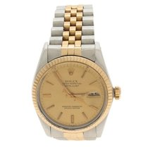 Rolex 18K Yellow Gold And Stainless Steel Oyster Perpetual