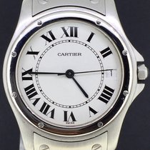 Cartier Santos Ronde Steel 33MM Box&Papers/1994 MINT Automatic