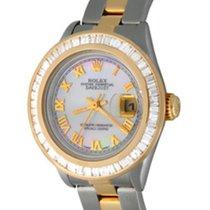 Rolex Lady-Datejust Сталь 25mm Перламутровый Римские