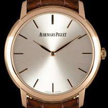Audemars Piguet Jules Audemars Rose gold 41mm Silver No numerals