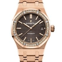 Audemars Piguet Royal Oak Lady Rose gold 37mm Brown No numerals