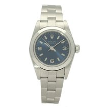 Rolex Oyster Perpetual Steel 26mm Blue No numerals