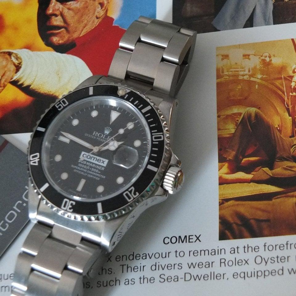 Rolex Submariner Date 16610 Comex 1991 gebraucht