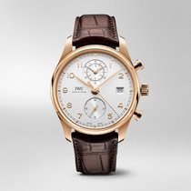 IWC Portuguese Chronograph Rose gold 42mm Silver