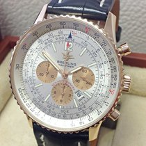 Breitling Or rose Remontage automatique Argent Arabes 42mm occasion Navitimer