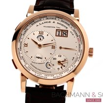 A. Lange & Söhne Red gold Manual winding Silver Roman numerals 42mm pre-owned Lange 1