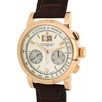 A. Lange & Söhne Red gold Manual winding Champagne Roman numerals 39mm pre-owned Datograph