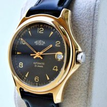 Helvetia new Automatic Display back Central seconds Guilloché dial Luminous hands Quick Set Only Original Parts 40mm Gold/Steel Sapphire crystal