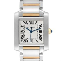 Cartier Tank Française Gold/Steel 28mm Silver Roman numerals United States of America, New York, Greenvale