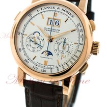 A. Lange & Söhne Rose gold Manual winding Silver No numerals 41mm new Datograph