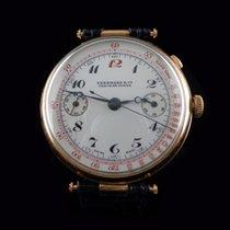 Eberhard & Co. Mono pusher chronograph with white enamel dial