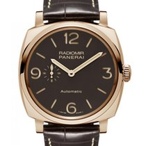 Panerai Rose gold Automatic Brown 45mm new Radiomir 1940 3 Days Automatic