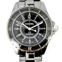 Chanel 38mm Automatic pre-owned J12 Black