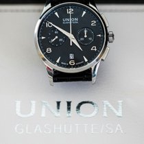 Union Glashütte Noramis Chronograph Stal 42mm Czarny