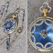 Gübelin Luzern diamond-set 18K Jewelry fob watch+magnificent...