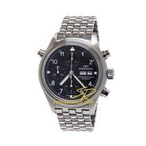 IWC Pilot Double Chronograph usato 42mm Nero Cronografo Data Indicatore dei giorni settimanali Acciaio